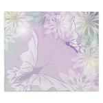 White Butterfly Floral Lavender King Duvet