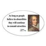 Voltaire 2 Oval Sticker