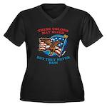 July 4th (2) Women's Plus Size V-Neck Dark T-Shirt