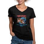 July 4th (2) Women's V-Neck Dark T-Shirt