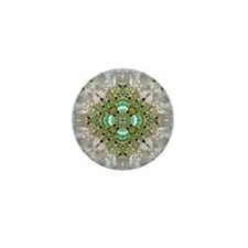 green diamond bling Mini Button