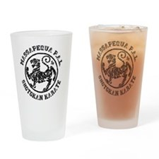 Massapequa PAL Shotokan Karate Logo Drinking Glass