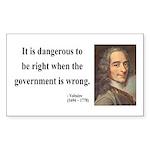 Voltaire 3 Rectangle Sticker