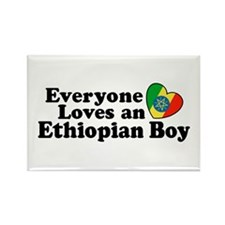 Everyone Loves an Ethiopian Boy Rectangle Magnet