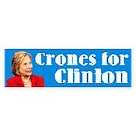 Crones For Clinton Bumper Sticker