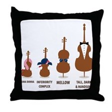 Funny Orchestra String Instruments Throw Pillow