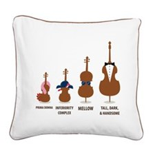 Funny Orchestra String Instruments Square Canvas P