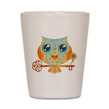 Owls Summer Love Letters Shot Glass