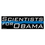 Scientists for Obama bumper sticker