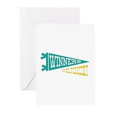 Winners Rejoice Greeting Cards