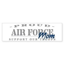 Proud Air Force Mom (Blue) Bumper Bumper Sticker