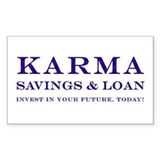 Karma Savings Loan Rectangle Decal