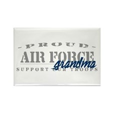 Proud Air Force Grandma (Blue) Rectangle Magnet