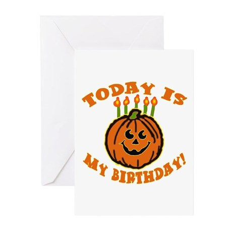 My Halloween Birthday Greeting Cards (Pk of 10
