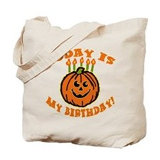 My Halloween Birthday Tote Bag