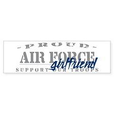 Proud Air Force Girlfriend (Blue) Bumper Bumper Sticker