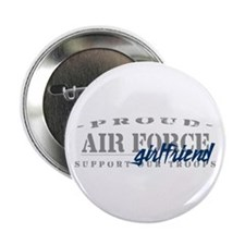 Proud Air Force Girlfriend (Blue) Button