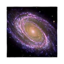 Violet Spiral Galaxy Queen Duvet