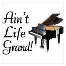 Ain't Life Grand Piano 5.25 x 5.25 Flat Cards