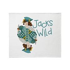 Jacks Wild Throw Blanket