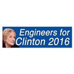 Engineers For Clinton Bumper Sticker