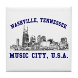 Nashville . . . Music City US Tile Coaster