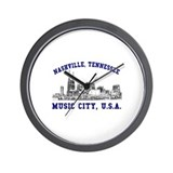 Nashville . . . Music City US Wall Clock