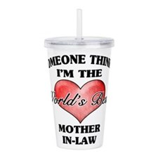 World's Best Mother-In Acrylic Double-wall Tumbler