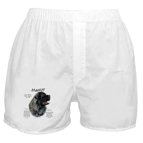 Brindle Fluffy Mastiff Boxer Shorts