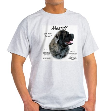 Brindle Fluffy Mastiff Light T-Shirt