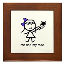 Girl & Mac Framed Tile