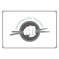 Fist With Drum Stick Banner