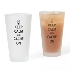 Keep and calm cache on Drinking Glass