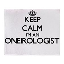 Keep calm I'm an Oneirologist Throw Blanket