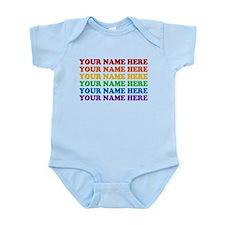 Rainbow Custom Text Infant Bodysuit