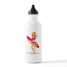 A slim lady surfing Water Bottle