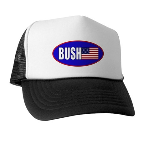 BUSH! American Flag Trucker Hat