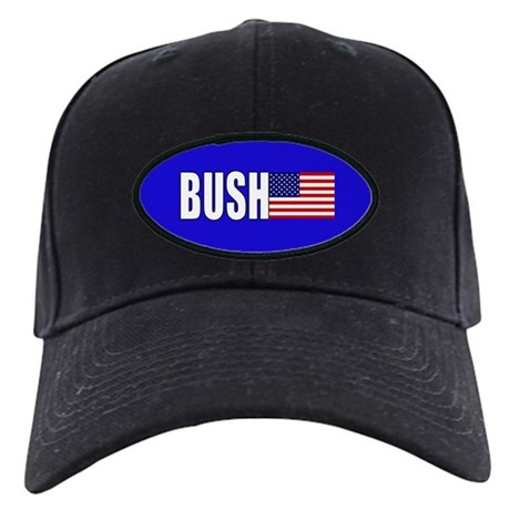 Bush American Flag Black Cap