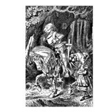 Alice and White Knight Postcards (Package of 8)