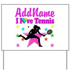 TENNIS PLAYER Yard Sign
