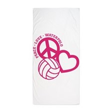 PEACE-LOVE-WATERPOLO Beach Towel