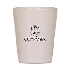 Keep calm I'm a Composer Shot Glass
