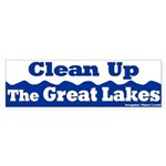 Great Lakes Clean Up Bumper Sticker