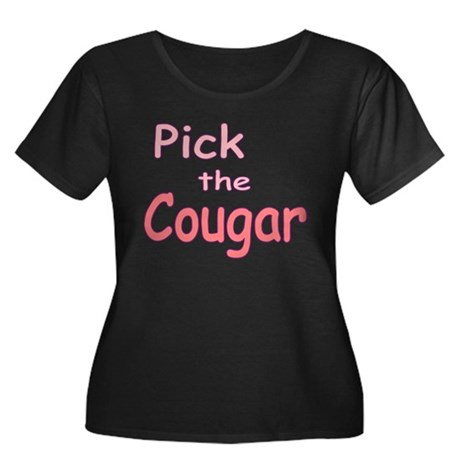 Pick the Cougar Women's Plus Size Scoop Neck Dark