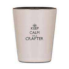 Keep calm I'm a Crafter Shot Glass