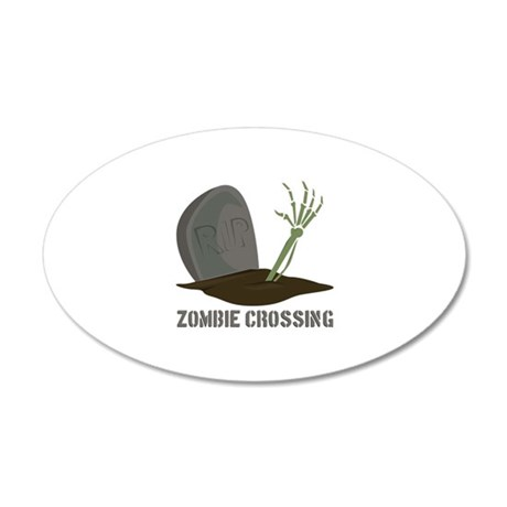 Zombie Crossing Wall Decal