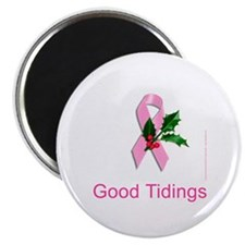 "Breast Cancer Christmas 2.25"" Magnet (10 pack)"