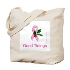Breast Cancer Christmas Tote Bag