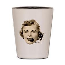 Retro Telephone Operator Shot Glass