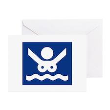 Nudist Beach (2), Norway Greeting Cards (Pk of 10)